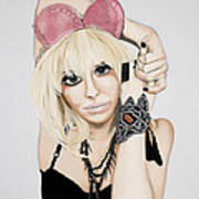 Pink Ears Art Print