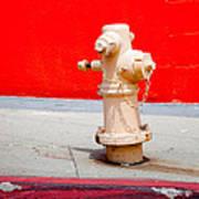 Pink Fire Hydrant Art Print