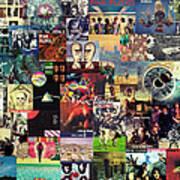 Pink Floyd Collage II Art Print by Taylan Apukovska