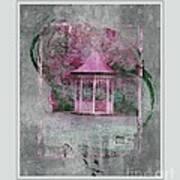 Pink Gazebo Art Print