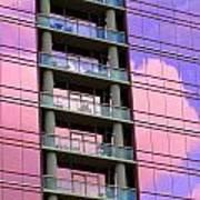 Pink Glass Clouds Art Print