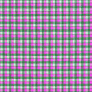 Pink Green And White Plaid Pattern Cloth Background Art Print
