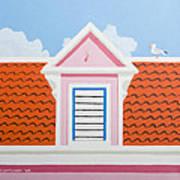 Pink House Art Print