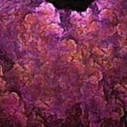 Pink Hydrangea Fractal Blossoms Art Print