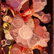 Pink Iris As A Burst Of Color Flower Abstract Art Art Print
