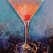 Pink Lemonade Martini Art Print