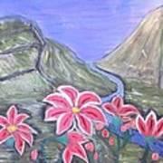 Pink Lillies Art Print