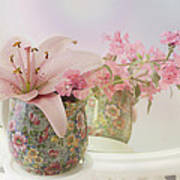 Pink Lily Rainbow Art Print
