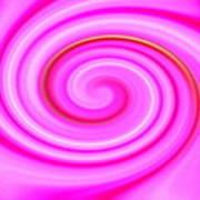 Pink Lollipop Swirl Art Print