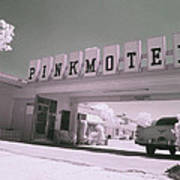 Pink Motel Art Print