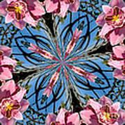 Pink Orchid Kaleidoscope 2 Art Print