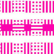 Pink Patterns Art Print