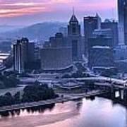 Pink Pittsburgh Morning Art Print