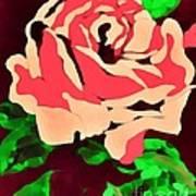Pink Rose Impression Art Print