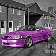 Pink Saab  Art Print