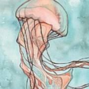 Pink Sea Nettle Jellyfish Print by Tamara Phillips
