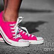 Pink Sneakers  Art Print