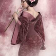 Pink Snow Art Print