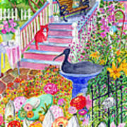 Pink Stairs Art Print