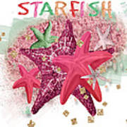 Pink Starfish Art Print