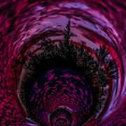 Pink Sunset Illusion 2 Art Print