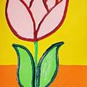 Pink Tulip Art Print