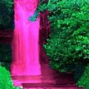 Pink Waterfall Art Print