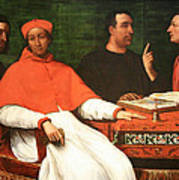 Piombo's Cardinal Bandinello Sauli And His Secretary And Two Geographers Art Print