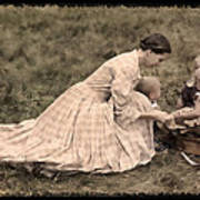 Pioneer Mother And Children Art Print