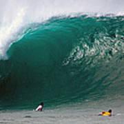 Pipeline Wave Hawaii Art Print