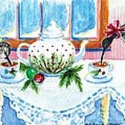 Pipers Sipping Christmas Tea Art Print