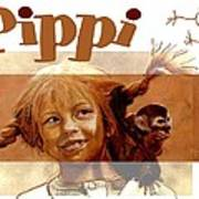 Pippi Longstocking - Fan Version Art Print