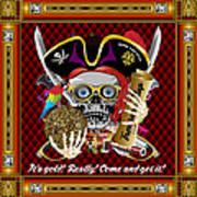 Pirate Mardi Gras Version 1 Vector Sample Art Print