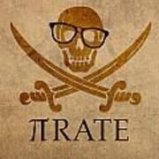 Pirate Math Nerd Humor Poster Art Art Print