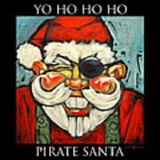 Pirate Santa Poster Art Print