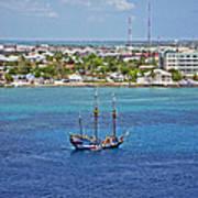 Pirate Ship In Cozumel Art Print