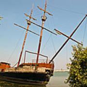 Pirate Ship Or Sailing Ship Art Print