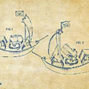 Pirate Ship Patent Artwork - Vintage Art Print by Nikki Marie Smith