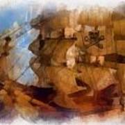 Pirate Ship Photo Art Art Print