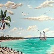 Pirates On Pavilion Key Art Print