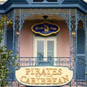 Pirates Signage New Orleans Disneyland Art Print