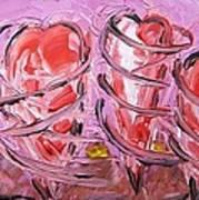 Pirouetting Hearts-musing Art Print