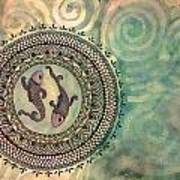 Pisces Mandala Art Print