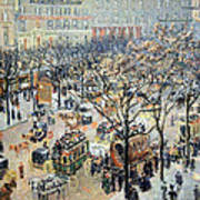 Pissarro's Boulevard Des Italiens In Morning Sunlight Art Print