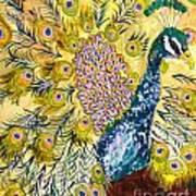 Pistacio Peacock Art Print