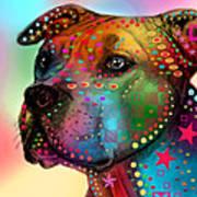 Pit Bull Art Print by Mark Ashkenazi