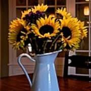 Pitcher Of Sunflowers Art Print