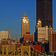Pittsburg At Dusk Art Print