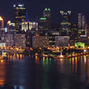Pittsburgh After The Setting Sun Art Print