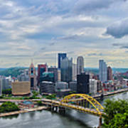 Pittsburgh And Above Art Print